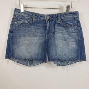 Paige Jimmy Jimmy Short Distressed Blue Shorts